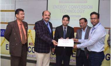 Valedictory Function of One Week workshop Induction/Refresher Programme on Energy Conversion Technology at HCST
