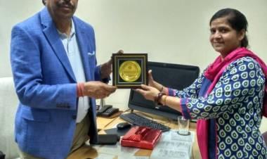 Interaction with renowned industrialist of Agra Sh. Puran Dawar Ji @ AEC