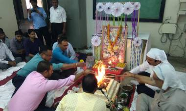 Vishwakarma Pooja in Mechanical Deptt.