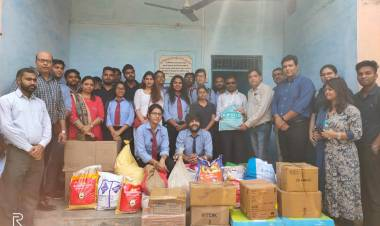 Gifts distribution to the students of Soor Kuti Blind School, Keetham, Agra