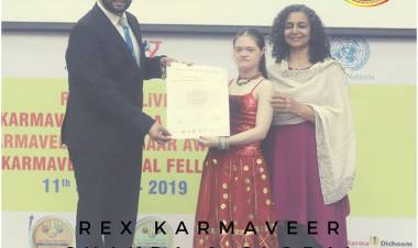 Mr. Pranav Sharma (Alumni of SGI) awarded with REX Karmaveer Award
