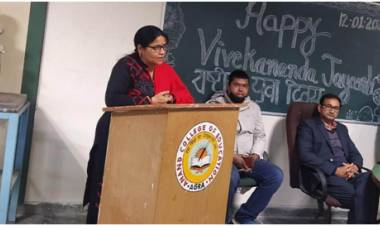 Anand College Of Education Celebrates National Youth Day Celebration