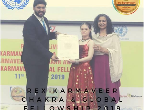 Mr. Pranav Sharma (Alumni of SGI) awarded with REX Karmaveer Award