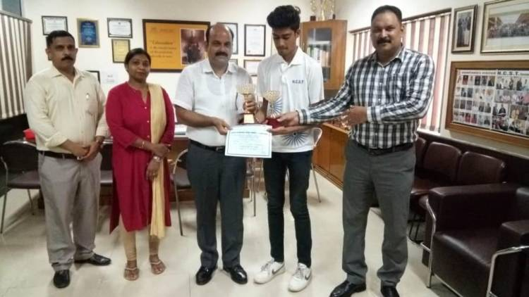 Student of HCST won State Lawn Tennis Under- 18 Tournament @ HCST