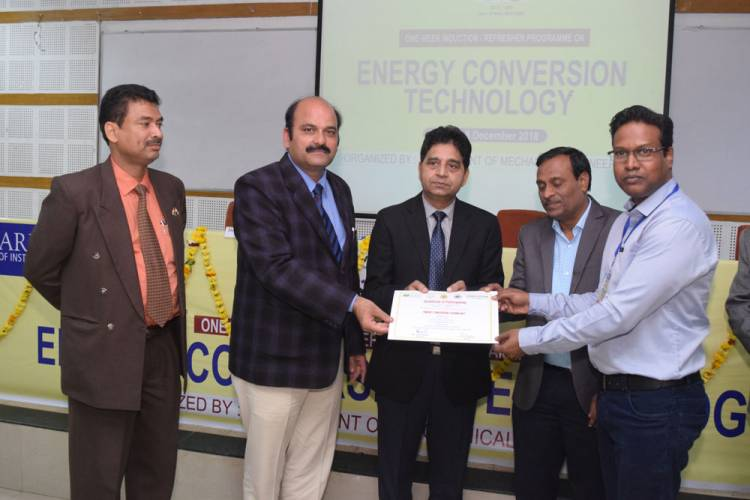 Valedictory Function of Workshop on '''Energy Conversion Technology'' @ HCST