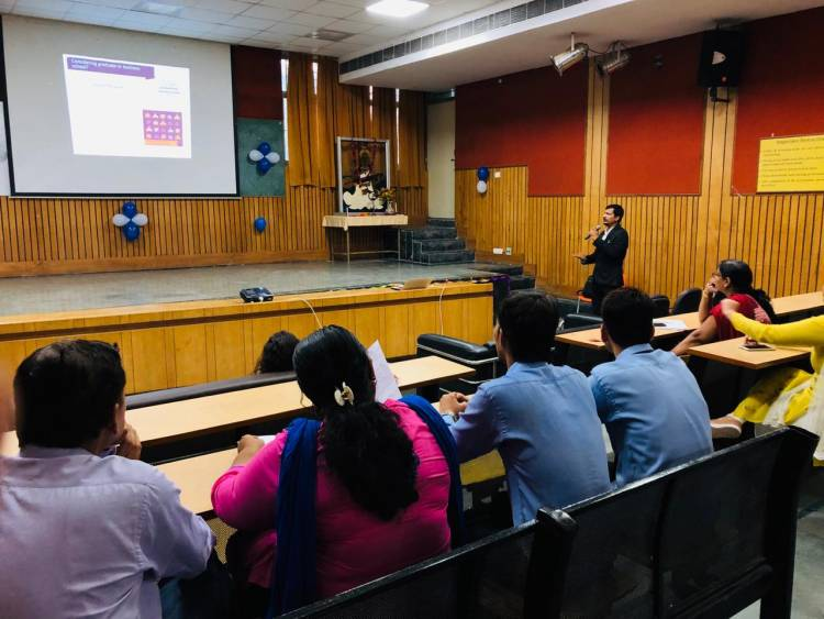 """Guest lecture on """"GRE and TOEFL: Opportunities Abroad""""  at Anand College of Pharmacy"""
