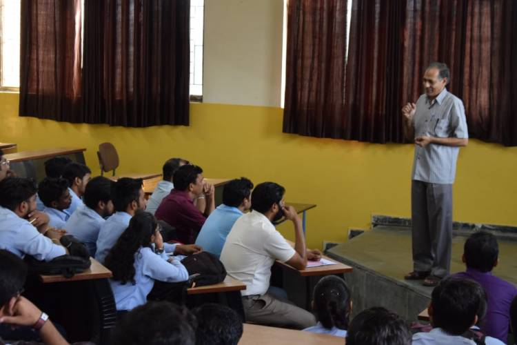 Guest lecture was organised by the department of Electronics and Communication
